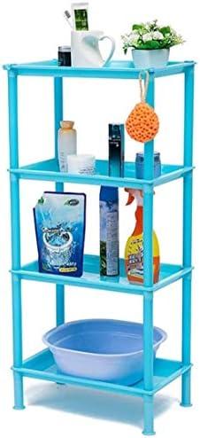 浴室の棚四床フロアスタンディングキッチンダイニングルーム多機能バスルームベッドルームリビングルーム LCSHAN (Color : Purple)