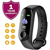 Forestone Waterproof Body Touchscreen Fitness Tracker Watch with ActivityTracker, Functions Like Steps/Calorie Counter, Blood Pressure, Heart Rate Monitor OLED (Multicolour)