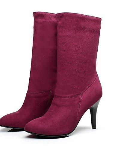 la Vestido 7 5 uk6 Casual us8 Morado purple eu39 a Puntiagudos Moda us6 de us8 Vellón purple uk6 Botas Botas cn39 eu39 Stiletto Tacón XZZ eu37 purple 5 5 cn37 uk4 Zapatos Negro mujer cn39 qCwP8P