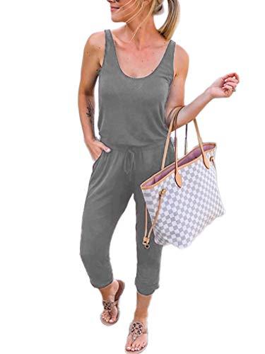 (ANRABESS Women Sleeveless Scoop Neck Jumpsuit Romper Playsuit Pocket CWXhuise-XL WFF08)