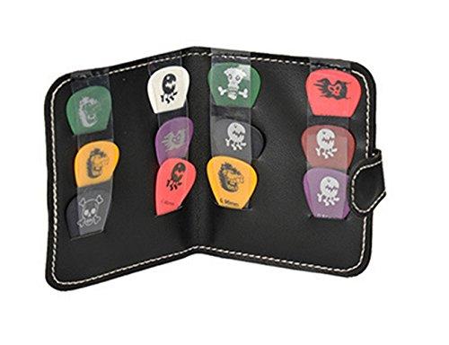 Derker Black PU Leather Guitar Picks Case Bag for Guitar ...