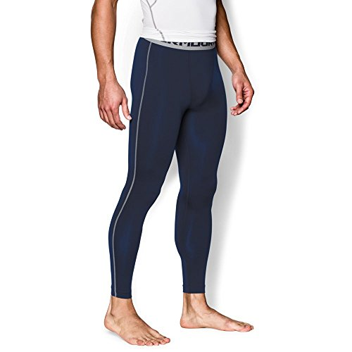 Under Armour Men's HeatGear Armour Compression Leggings, Midnight Navy /Steel, X-Large by Under Armour (Image #4)