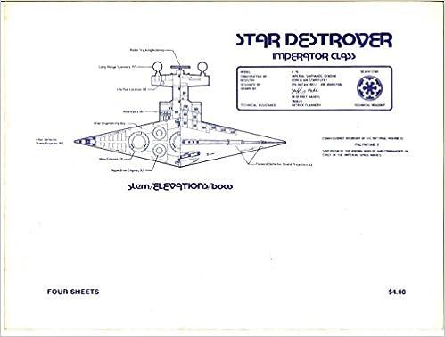 Star Destroyer Imperator Class Blueprints Star Wars Amazon