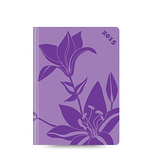 Lett's 2015 Blossom Planner, Week to View, Desk, Lilac, 7.75 x 5.5 Inches (CB3XLC-15) (Planner 2015 London)