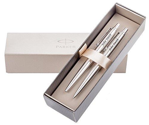 ved Parker Jotter Silver Pen & Pencil Gift Set (Jotter Set)