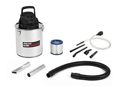 Shop-Vac 4041300 Ash Vacuum, Stainless Steel, 5 gallon (Vacuum For Ash Stoves Pellet)