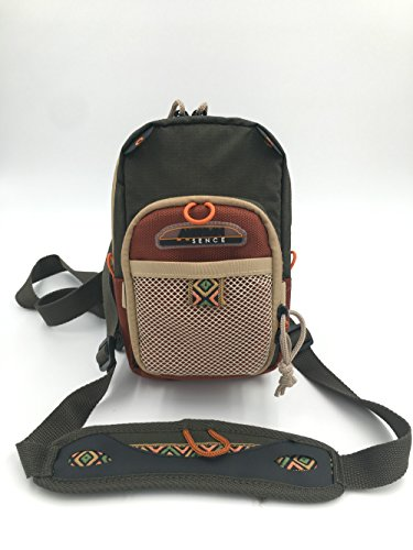 Rudder Fly Fishing Chest Pack Bag With Molded Fly Bench 9.50 x 6 inch