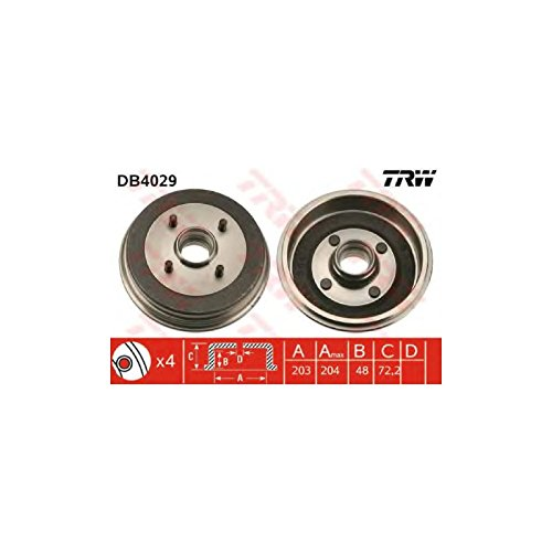 TRW DB4029 Brake Drums: