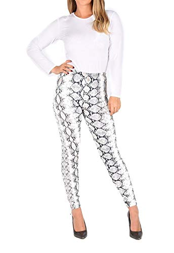 a5773e344aa09 Rimi Hanger Womens Snake and Leopard Animal Printed Legging Ladies Party  Casual Wear Pants Snake Print X Large