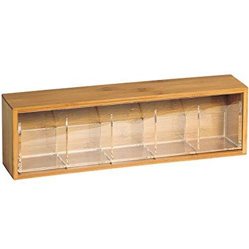 Kesper Tea Box, Bamboo, Brown 58912