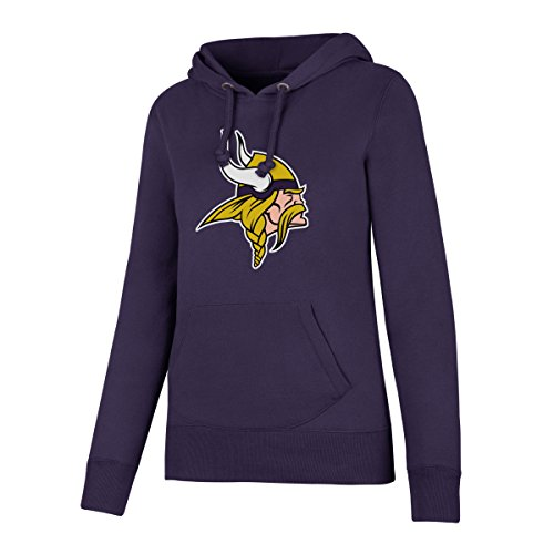 NFL Minnesota Vikings Women's OTS Fleece Hoodie, Purple, Medium