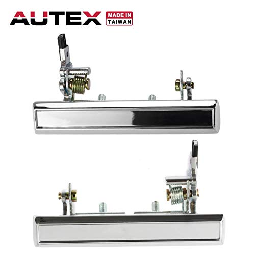 AUTEX 2pcs Metal Exterior Door Handle Front Left Right Driver Passenger Side Compatible with 70 71 72 73 74 75 76 77 78 79 80 81 Chevy Camaro Caprice Impala Vega Pontiac Firebird Astre 77017 77019