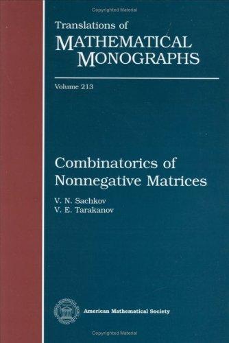 Combinatorics of Nonnegative Matrices (Translations of Mathematical Monographs)