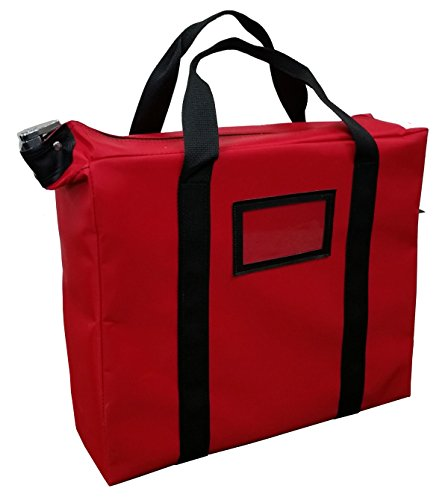 Briefcase Style Locking Document Bag (Red) by Cardinal Bag Supplies