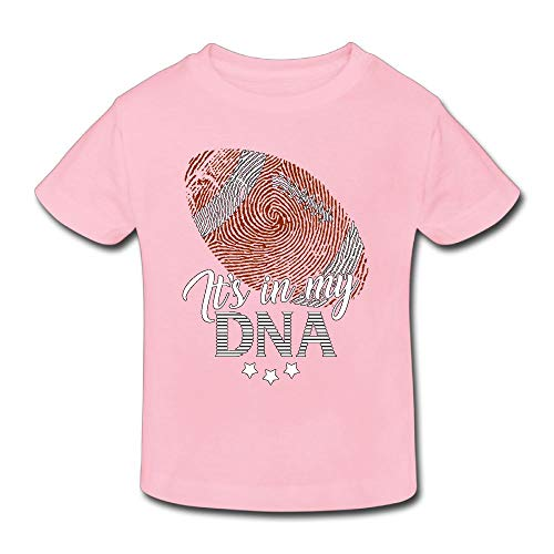 PANK11 American Football It's My DNA Boys Girls Short-Sleeve Cotton Toddler T-Shirts Kids Soft Blouses T-Shirts 5-6 Toddler