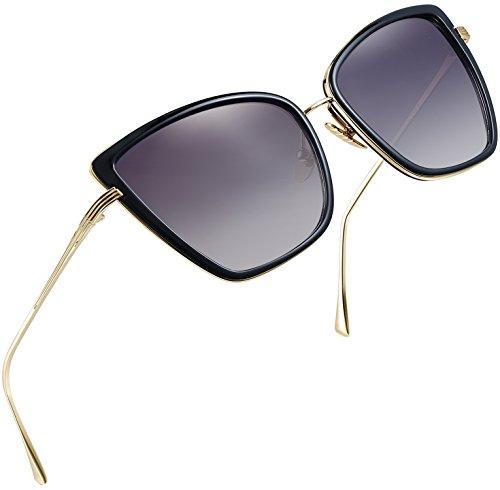 - Joopin Fashion Cat Eye Sunglasses Women Retro Transparent Frame Brand Sun Glasses(Black)