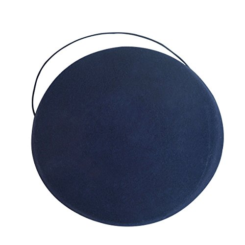 Lawliet Circle Wool Felt Pillbox Beret Hat Millinery Fascinator Base Craft A215 (Navy Blue)