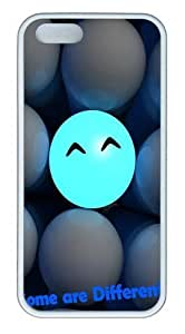 3D Ball Smiling Faces Some Are Different TPU Silicone Rubber iPhone 5 and iPhone 5S Case Cover - White