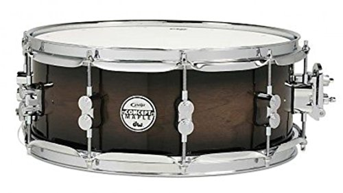 (Pacific Drums PDP Concept Maple Series 5.5x14 Snare Drum - Exotic Walnut Charcoal Burst PDCMX5514SSWC)