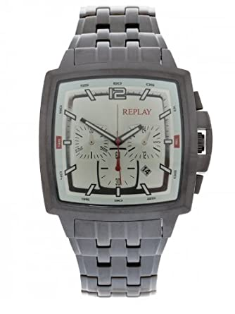 Replay Herrenchronograph Stahl-schwarz