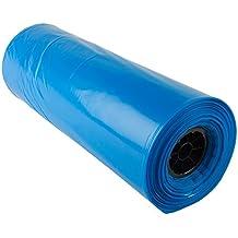 "Hudson Exchange LDPE 5 Gallon Bucket Liner, Food Grade, 20"" W x 30"" L, 3 Mil, Blue, Roll of 200"