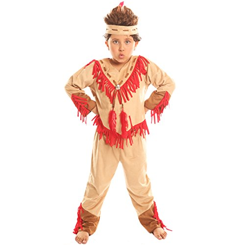 Plus Size Gothic Mummy Costumes (Disiao Navajo Warrior Costume for Boy Halloween Party Cospaly Suits (S))