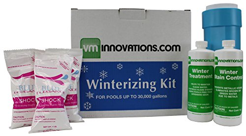 Swimming Pool Winterizing Chemical Treatment Closing Kit - Up To 30,000 Gallons