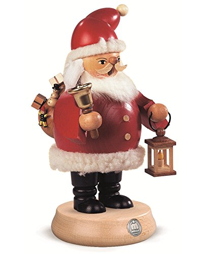 Müller German incense smoker Santa Claus, height 20 cm / 8 inch, original Erzgebirge by Mueller ()