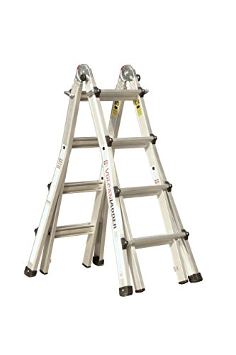 Vulcan Ladder USA 3600735401986540 Stepladder Multi-Task Alu 17Ft, 17' MT