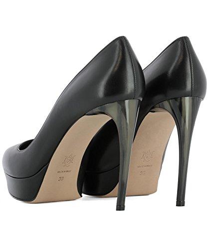 McQueen Noir 482166WHMU01000 Alexander Escarpins Femme Cuir vwPF6q
