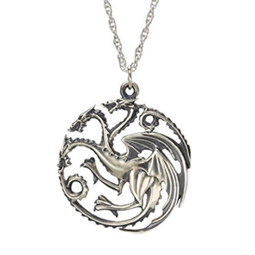 game-of-thrones-inspired-house-of-targaryen-sigil-silver-color-pendant-costume-necklace