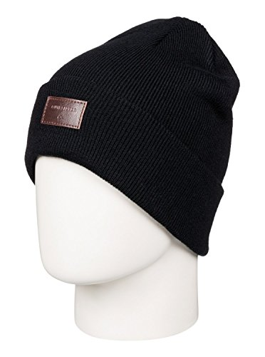 Quiksilver Snow Men's Brigade 17 Beanie, Black, One (Quiksilver Clothing Mens Beanie)