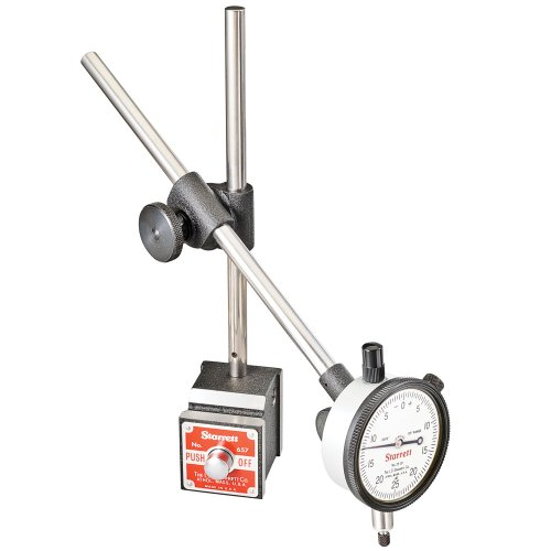 Starrett 657EZ Set Including Magnetic Base, Upright Post Assembly, 25-131J Dial Indicator and Case Dial Assembly