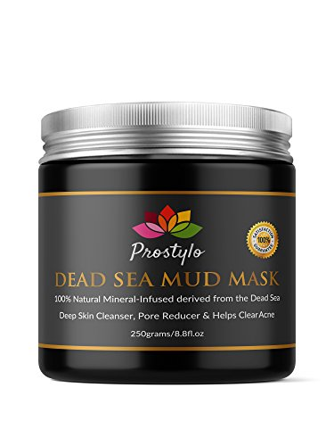 Cleanser Elements Skin Normal (Prostylo Dead Sea Mud Mask Facial Cleanser - 100% Natural and Organic Skin Cleanser that Removes Dead Skin and Impurities, Clear Acne, Reduce Pores and Wrinkles)
