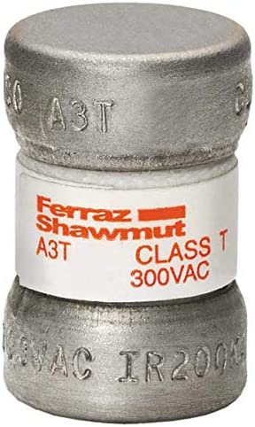 50A Fast Acting Glass//Melamine Class T Fuse 300VAC//160VDC