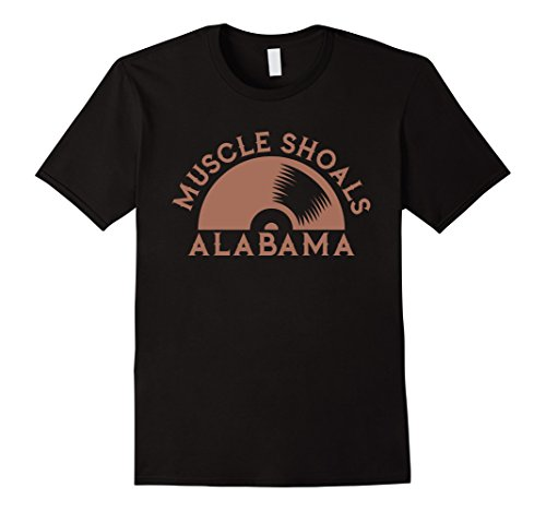 Mens Muscle Shoals Shirt Alabama Recording Music Vinyl Record 2XL ()