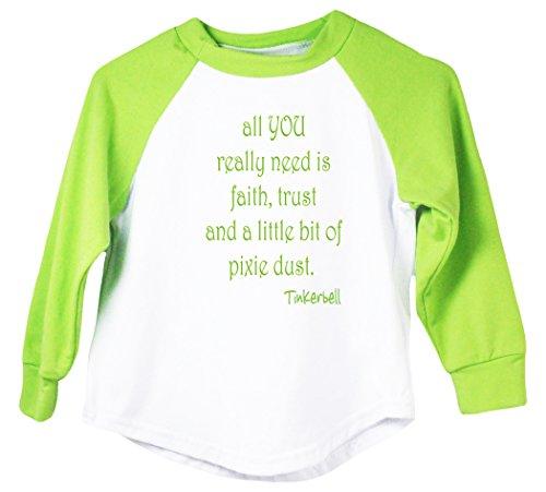 Wholesale Princess Graphic Faith Trust & Pixie Dust Raglan T-Shirt (4T) ()