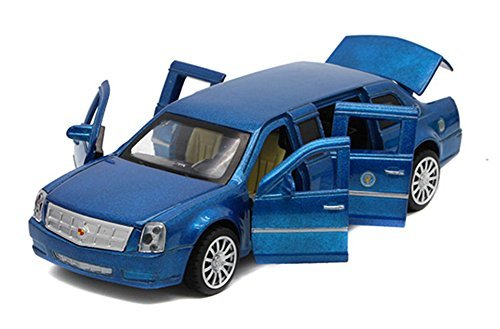 Berry President(TM) 1:32 Presidential Limos 2009 Cadillac Limousine Car Electric Toy Sound & Light - Birthday Christmas Gift (Blue) (Cars Cadillac 2009)