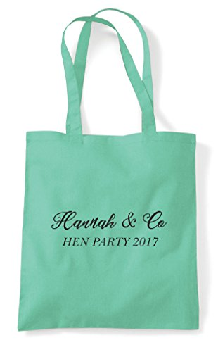 Co Name Customised Party Personalised Bag Hen Do Lime And Tote Shopper IFwCUOq