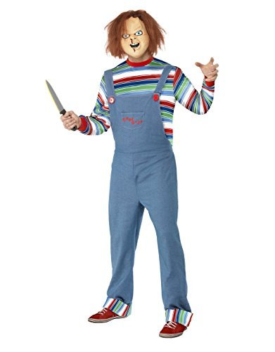 [Childs Play Costume, Mens Chucky Killer Outfit, Large, CHEST 42 - 44