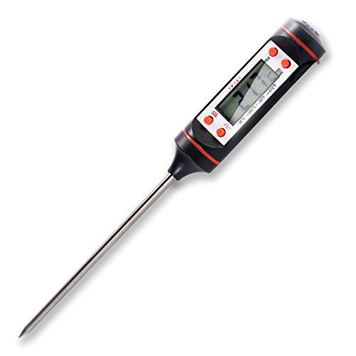 Digital Thermometer BESTOPE Instant Read Latest Stainless Cooking Thermometers with Long Probe, LCD Screen and...