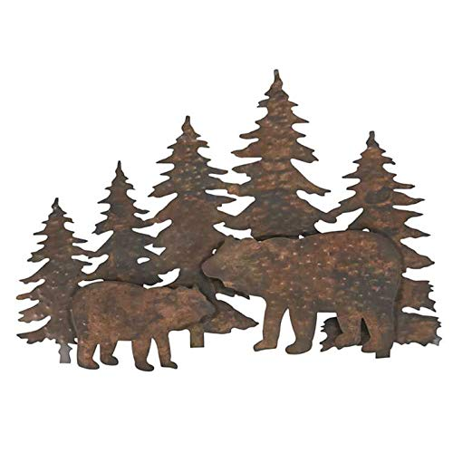 Park Designs Bear Copper Hammered Metal Dimensional Wall Art, 23.5