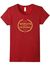World's Best Grandma T Shirt - Greatest Ever Award Gift Tee