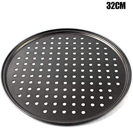 herramienta port/átil para el hogar y la cocina 24,5 cm Vtops Bandeja de pizza antiadherente de acero al carbono