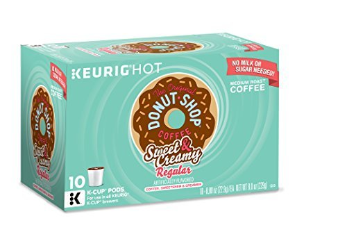 Keurig The Original Donut Shop K-Cup Packs, Sweet and Creamy Regular, 10 count (Pack of 6). by Donut Shop Classics