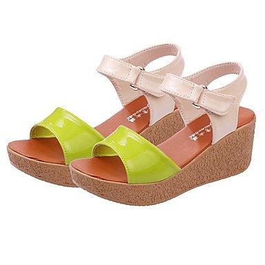 SHOES-XJIH&Uomini sandali Comfort estivo luce suole in cuoio in microfibra outdoor casual tacco piatto scarpe da acqua,Black,US7.5 / EU39 / UK6.5 / CN40