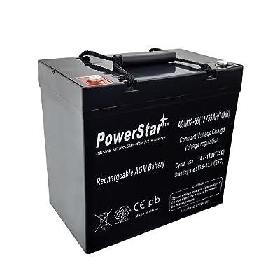 PowerStar12V 55Ah Jazzy Select 14 XL Jet 1 HD 2 10 12 Power Chair Battery