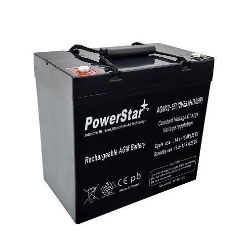(12V 55Ah Power Boat Pontoon Electric Trolling Motor Deep Cycle Battery)