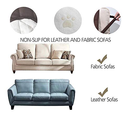 Ameritex Waterproof Nonslip Recliner Cover Christmas Decor Stay in Place, Dog Couch Recliner Cover Furniture Protector for Pets and Kids (Chocolate, 23'')