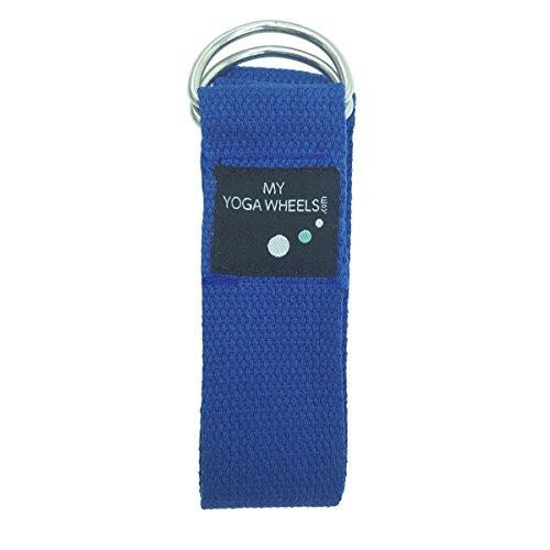 MyYogaWheels Sangle en coton avec anneau en D en métal de yoga/pilates